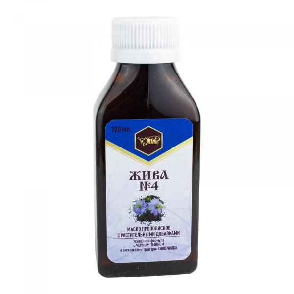 Пищевое масло для кишечника «ЖИВА №4»